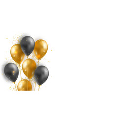 background with 3d realistic glossy helium vector image