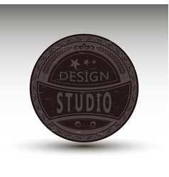 Badge for design studio vector