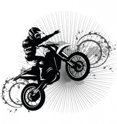 black bike vector image