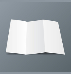 Blank trifold paper leaflet flyer broadsheet vector