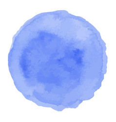 blue isolated watercolor paint circle vector image
