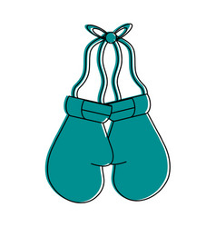 Boxing gloves sport or fitness related icon image vector