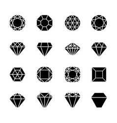 brilliant shapes set vector image