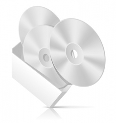 Cd box with disks template vector