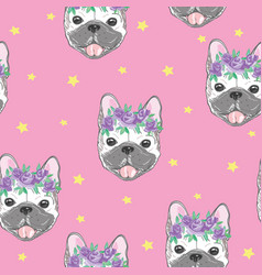 character design pattern background of head vector image