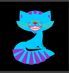 Cheshire cat smile isolated fantastic pet alice vector