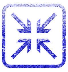 Collide arrows framed textured icon vector