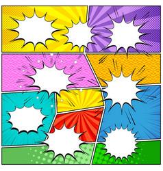 Comic elements composition vector