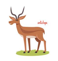 Cute antelope in cartoon style vector
