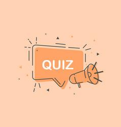 Cute quiz icon symbol on pastel orange background vector
