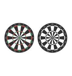 dart boards vector image