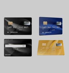 debit cards plastic bank financial credit cards vector image