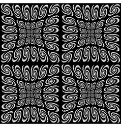 Design seamless monochrome spiral movement pattern vector image