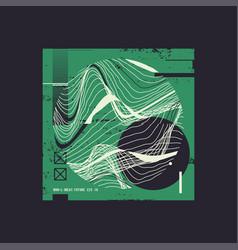 digital geometric t-shirt vector image