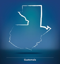 Doodle Map of Guatemala vector image