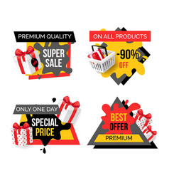 Exclusive products hot sale discounts offers vector
