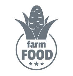 farm food logo simple style vector image