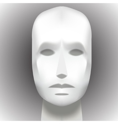 Female Head Blank Mannequin - Front view vector