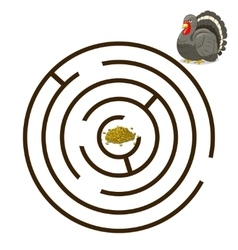 Game labyrinth find a way turkey vector