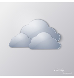 Glass clouds on a gray background vector