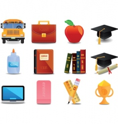 Graduation college and education vector