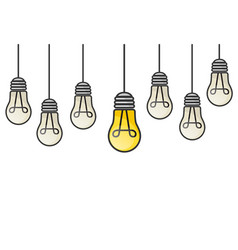 Grunge with hanging light bulbs and vector