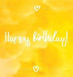 Happy Birthday Script yellow vector