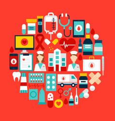 health circle concept vector image
