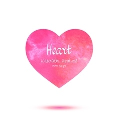 Heart watercolor banner vector image