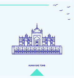 Humayuns tomb skyline vector