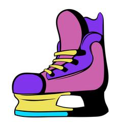 ice hockey skates icon icon cartoon vector image