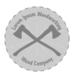 Lavel of woodworking Company vector