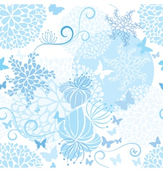 Light Blue floral seamless pattern vector