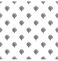 lily pattern seamless vector image