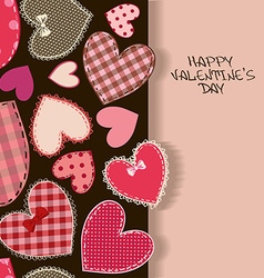 Love greeting card with heart patchworks vector