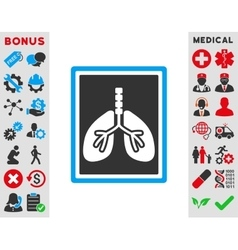 Lungs X-Ray Photo Icon vector image vector image