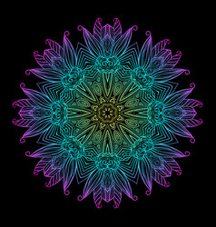 Mandala black new 8 vector