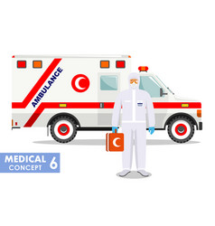 Medical concept detailed muslim vector