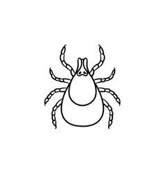 Mite hand drawn sketch icon vector