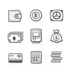 Money related icon set vector