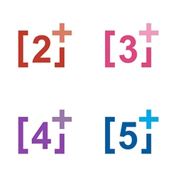 Number plus figure colorful design symbol vector