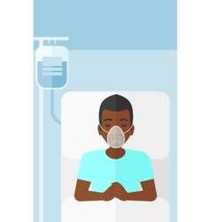 Patient lying in hospital bed vector image