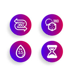 ph neutral augmented reality and 360 degree icons vector image