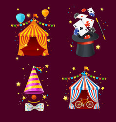 Realistic detailed 3d circus set vector