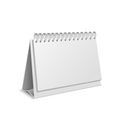 realistic detailed 3d paper calendar blank vector image