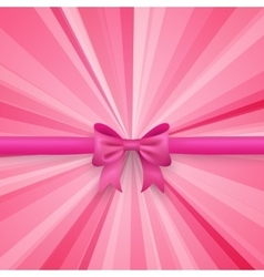 Romantic pink background with cute bow and vector