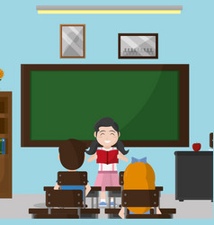 School classroom design vector