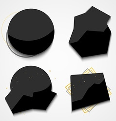 Set black labels for store sales Stylish label vector image