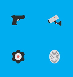 Set of simple crime icons elements bioskyner vector
