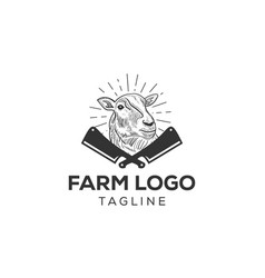 sheep or lamb logo icon design vector image